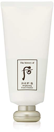 THE HISTORY OF WHOO Gongjinhyang Seol Radiant Brightening Cleansing Foam, 180 g.