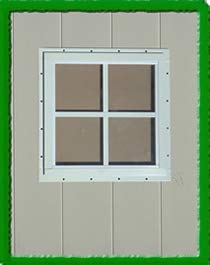 SQUARE SHED WINDOW-12X12-BROWN-J-LAP OUTDOOR PLAY AND STORAGE