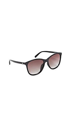 Le Specs Women's Entitlement Sunglasses, Black/Smoke Grad, One - Le Eyewear Specs