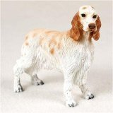 English Setter, Orange Belton Original Dog Figurine - Setter Dog English Figurine