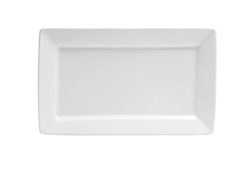 Oneida Foodservice F8010000383S Bright White Platter Rectangle 14 1/2 In (Set of 12)