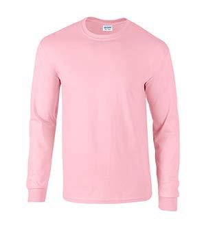 Gildan 2400 - Classic Fit Adult Long Sleeve T-shirt Ultra Cotton - First Quality - Light Pink - 5X-Large