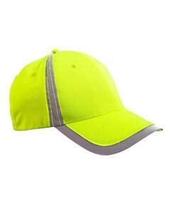 Big Accessories BX Poly Reflective Safety Cap (Bright Yellow) (OS)