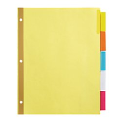 Office depot insertable dividers with big tabs buff for Office depot divider templates