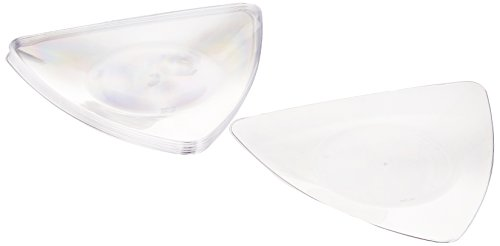 EMI Yoshi Koyal Triangles Dessert Plates, Clear, 10 plates per pack