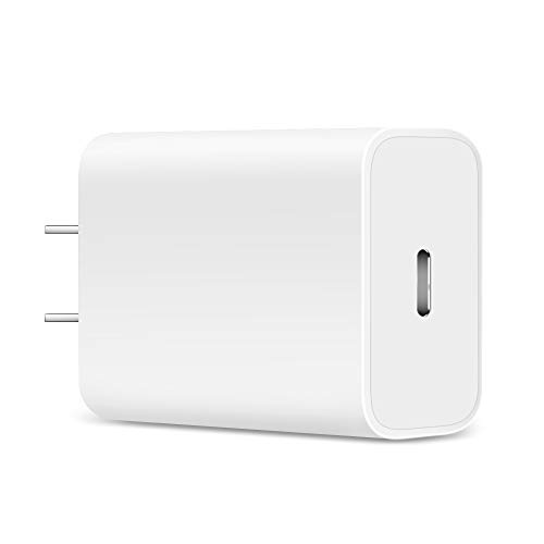 (Power Delivery Charger, Jiunai 18W USB C Power Adapter 9V 2A USB C PD Wall Charger Portable Adapter Compatible with Google Pixel 3a Pixel 3a XL Google Pixel 3 XL Nexus 6P 5X iPad Pro 12.9'' 11'' White)