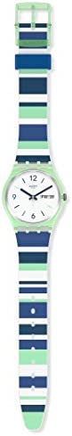 Swatch Gent Standard Swiss Quartz Silicone Strap, White, 16 Casual Watch (Model: GG711)