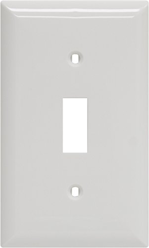 GE Single Switch Wall Plate, White Nylon 40026 - Jasco Wall Plate