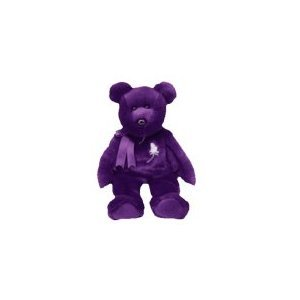 TY BEANIE BABY 1997 PRINCESS BEAR PURPLE W/TAG (RETIRED) ()