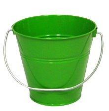 ITALIA 10304 7.5 x 7.5 In. Green Metal Bucket - 6 Pack