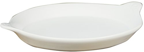 Eurita by Reston Lloyd Flame Safe Au Gratin Porcelain Pan, Large, White by Reston Lloyd
