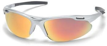 Pyramex SS4545D Avante Safety Glasses Silver Frame w/Ice Orange Lens (12 Pair)
