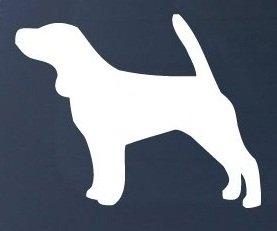 BEAGLE SILHOUETTE - Dog - Vinyl Car Decal - Beagle Sticker For Car