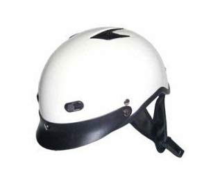 DOT Pearl White Vented Motorcycle Half Helmet (Size XL, X-Large)