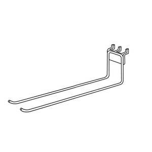 16 Inch (L) Double Peg Hook Steel by Retail Resource