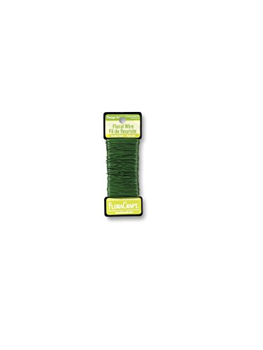 FloraCraft 26 Gauge Floral Paddle Wire 270 Feet Green