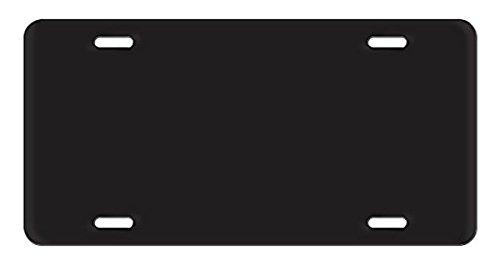 Acrylic License Plate Blanks - Black - 6
