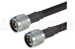 400 Series Cable Assemblies - L-Com CA3N004 N-Male to N-Male 400 Series Assembly 4 ft,