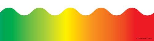Flip Flop Border - Carson Dellosa Rainbow Borders (1232)