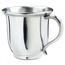 Salisbury Pewter Engravable Georgia Baby Cup