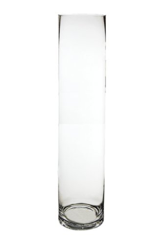 - Koyal Wholesale 404341 6-Pack Cylinder Glass Vases, 4 by 24-Inch