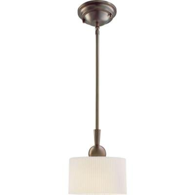 Hampton Bay Lawson Collection 1 Light Satin Bronze Pendant-DISCONTINUED -