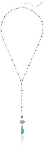 Chaps Necklace - Chaps Women's Silver/Turquoise 22
