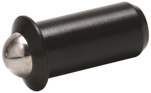 3/16'' x 0.394'' Force = 2.00 lb - 5.00 lb Steel Press Fit Ball Plunger, Pack of 10