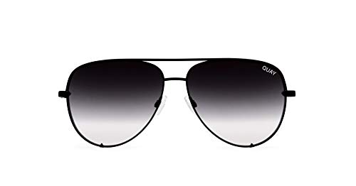 - Quay Australia HIGH KEY Men's and Women's Sunglasses Classic Oversized Aviator - Black/Fade