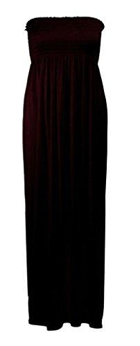 PLUS 12 BANDEAU SIZE 22 MEDIUM SMALL WOMENS NEW 16 LONG GATHER 10 8 18 14 Black BOOBTUBE DRESS SUMMER STRAPLESS 20 LADIES SHEERING MAXI 24 OFIwqTp