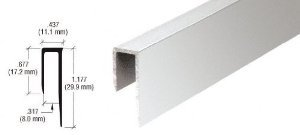 CRL Brite Anodized Aluminum Deep Nose 5/16'' ''J'' Channel - D58BA