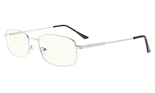 Eyekepper Bendable Memory Titanium 100% UV Production Anti Blue Glare Computer Eyeglasses, - Eyeglasses Titanium Bendable