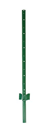 (Garden Zone Utility Fencing Heavy-Duty Steel Fence Post (10 Pack), Green, 5' )