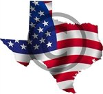 Yellow Dog Texas TX Shaped US United States Waving Wavy American Flag Sticker 4' x 6'