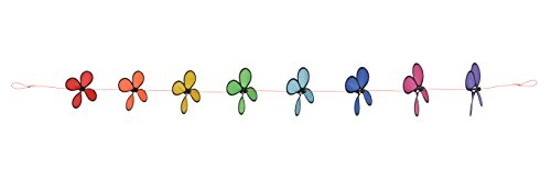 In the Breeze Rainbow Spinning Flower String