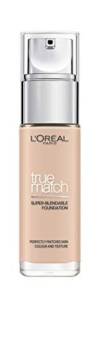 L'Oreal Paris True Match Liquid Foundation 0.5C Porcelain Rose, Skincare Infused with Hyaluronic Acid, Available in 40…