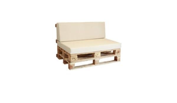 Conjunto 10 sofá palet enfundado polipiel náutico (Beige ...