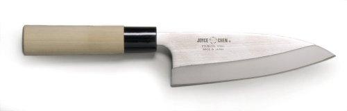 Joyce Chen 50-0759, Heavy duty Deba Knife with Ho wood handle, 6-Inch