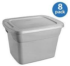 Sterilite 18-Gallon (72-Quart) Tote Box, Set of 8 (72 Containers Storage Quart)