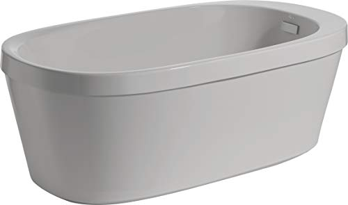 (Delta Faucet B14627-6032-WH Arata Freestanding Tub with Integrated Waste and Overflow White)