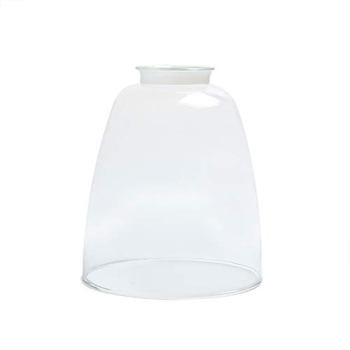 Permo Lighting Fixture Replacement Oval Cone Clear Glass Shade ()