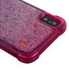 Casey Liquid Glitter Case for iPhone XS Max [Sparkle Bling] [Flowing Waterfall Quicksand Confetti ] Protective Hybrid TPU Bumper Back Phone Cover (Pink/Purple)