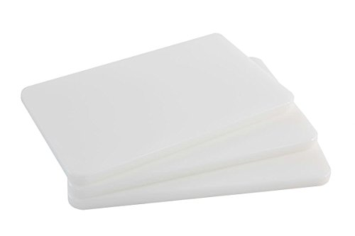 Plastic Bar Cutting Board for Restaurants, NSF and FDA Certified, 3 Pack, 10 x 6 Inch (White)