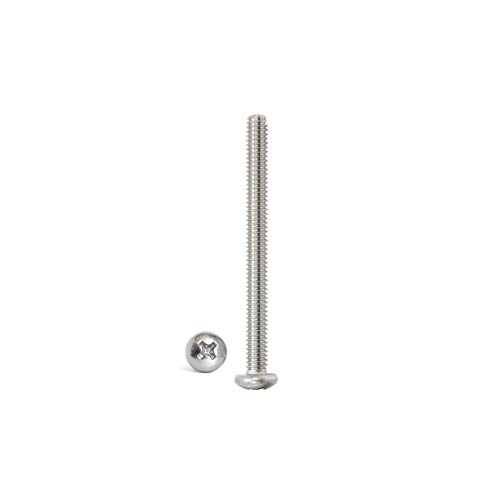 Adiyer 30 Pack #8-32 UNC x 1-5/8 Inch Machine Screws for Cabinet Drawer Knob Pull Handle, 304 Stainless Steel, Button Head Bolts, Phillips Drive
