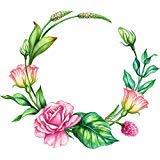 かわいいパステル鉛筆スケッチFloral 825348838 Wreath漫画ビニールステッカー B07CZ99JMF 12\ 12
