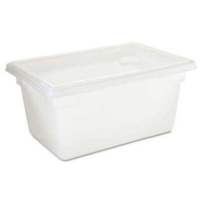 Rubbermaid Commercial Food/Tote Boxes, 5gal, 18w x 12d x 9h, White