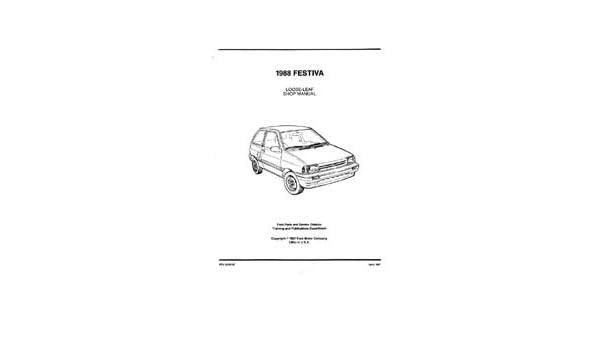 amazon com: bishko automotive literature 1988 1989 ford festiva shop  service repair manual engine drivetrain book oem: automotive