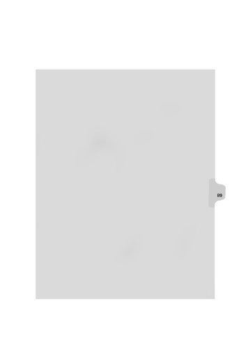 Kleer-Fax Letter Size Individual Number Index Dividers, Side Tab, 1/25th Cut, Number 89, 25 Sheets per Pack, White (82289) by Kleer Fax