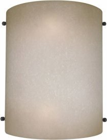 Forte Lighting 5121-02-00 Transitional 2-Light Wall Sconce with Umber Mist Glass, Umber Mist Glass