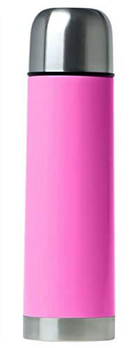 Termo de Acero Inoxidable, Botella de Agua e infusiones frias o Calientes de Capacidad 500 ML (Rosa)
